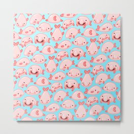 Blobfish Pattern Metal Print