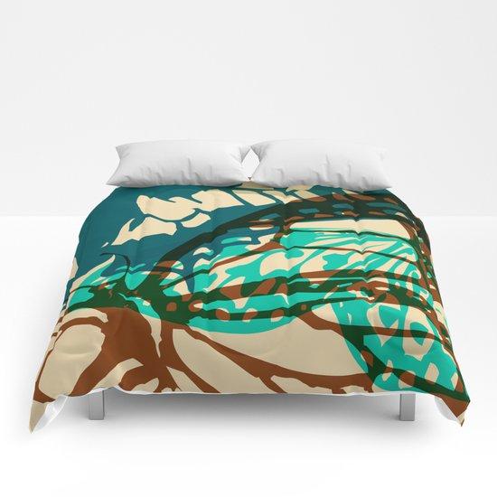 Abstract Butterflies 02 Comforters