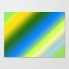 Lemon & Lime Stripes Canvas Print
