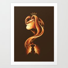The New King Art Print