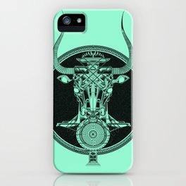 MINOTAUR_GREEN iPhone Case