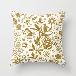 Oh, beautiful garden of mine Throw Pillow