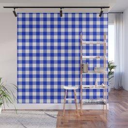 Plaid (blue/white) Wall Mural
