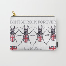 Fashion vector illustration British rock music with beetles Carry-All Pouch