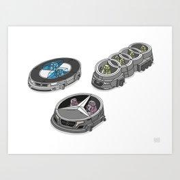 car logos 01 Art Print