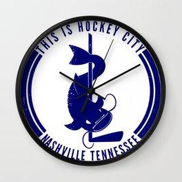 This is Hockey City, Nashville Wall Clock