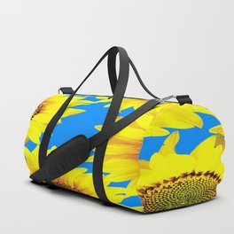 Sunny Sunflowers with blue sky - summer mood - #Society6 #buyart Duffle Bag