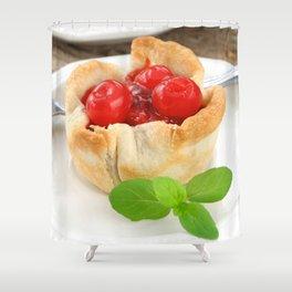 Cherry Tarts Shower Curtain
