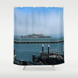 Alcatraz On A Foggy Morning Shower Curtain