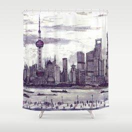 Shanghai. China. Pudong 2013 Shower Curtain