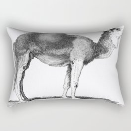 Illustration of Arabian camel from Zoological lectures delivered at the Royal institution in the yea Rectangular Pillow