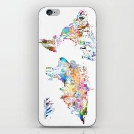 world map landmarks collage iPhone Skin
