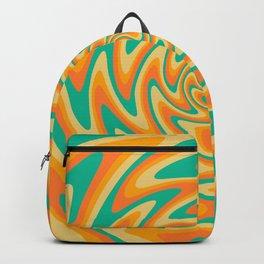 Retro Wavy 70s Abstract art Backpack