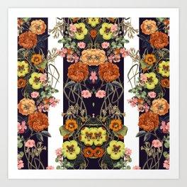 Floral Crossings 02 Art Print