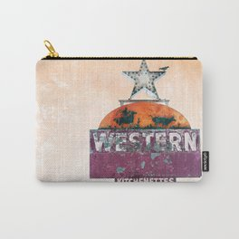 Vintage Neon Sign - The Western - Tucson Carry-All Pouch