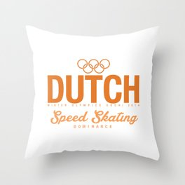Dutch - Speed Skating Throw Pillow