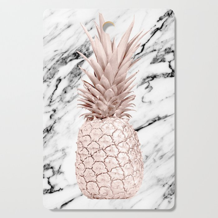 Pineapple Rose Gold Marble Cutting Board By Luxuryhome
