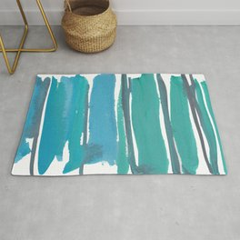 1  |  190408 Blue Abstract Watercolour Rug