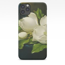 Martin Johnson Heade - Giant magnolias on a blue velvet cloth iPhone Case