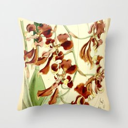 Cyrtochilum serratum Throw Pillow