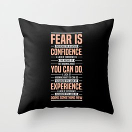 Lab No. 4 Fear Is The Result Dale Carnegie Inspirational Quotes Throw Pillow