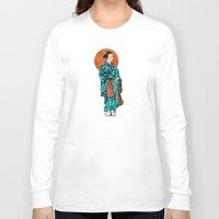 geisha Long Sleeve T-shirts featuring Geisha by Steve W Schwartz Art