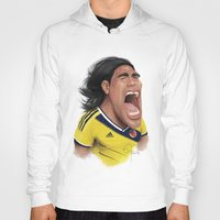 colombia Hoodies featuring Falcao - Colombia by Sant Toscanni