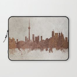 Toronto Canada Rust Skyline Laptop Sleeve