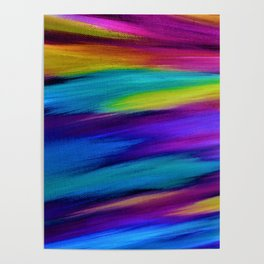 ETHEREAL SKY - Large Abstract Sky Oil Painting Poster