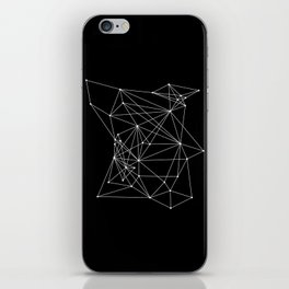 Black Geometric Dots and Lines iPhone Skin