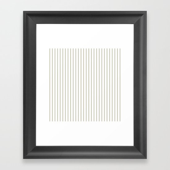 Silver Moss Pinstripe on White by honorandobey