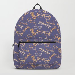 Orange Glasses Backpack