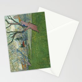 Orchards in blossom by Vincent van Gogh, 1889 Stationery Cards