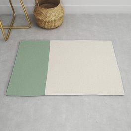 Boho Forest Green & Neutral Color Block Rug