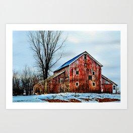 Bremer County Barn 2 Art Print