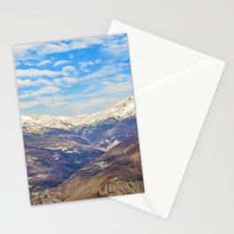 Alpes Mountains Aerial View Piamonte District Italy Stationery Cards