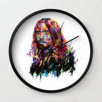 jared leto Wall Clocks featuring Jared Leto by ururuty