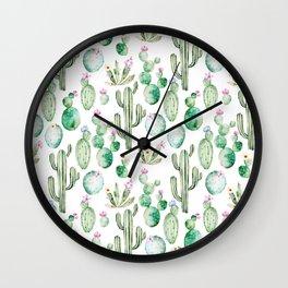Cactus Summer Garden Wall Clock