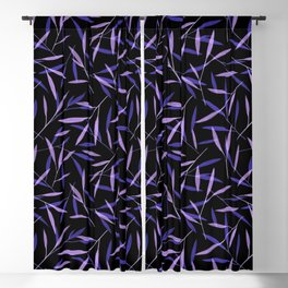 Midnight Bamboo Leaves Blackout Curtain