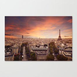 Paris Has My Heart Canvas Print