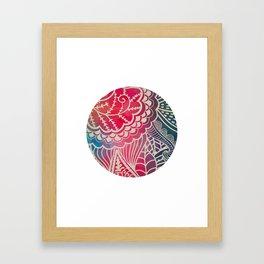 Filigree Rainbow Circle Framed Art Print