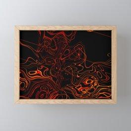 Abstract orange red lines Framed Mini Art Print