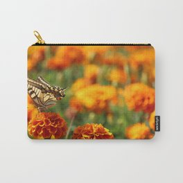 The Butterfly on Carnation Carry-All Pouch