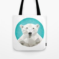 bears Tote Bags featuring ♥ SAVE THE POLAR BEARS ♥ by ℳixed ℱeelings