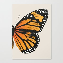 Monarch Butterfly | Right Wing Canvas Print