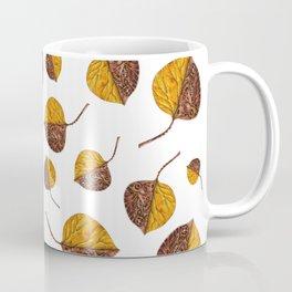 Steampunk yellow leaf Coffee Mug