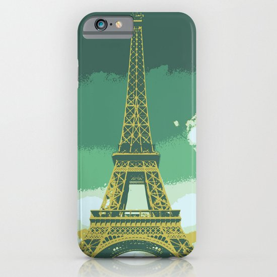 Eiffel Tower Paris Pop Art iPhone & iPod Case