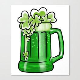 Flying Shamrocks Beer St Patrick's Drunk Day Canvas Print
