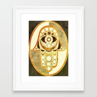hamsa Framed Art Prints featuring Hamsa by S.G. DeCarlo