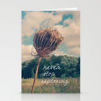 never stop exploring Stationery Cards featuring Never Stop Exploring II by Sandra Arduini